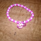 The Pink and Light Purple Charm Stretch Bracelet