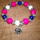 Red White And Blue Charm Bracelet