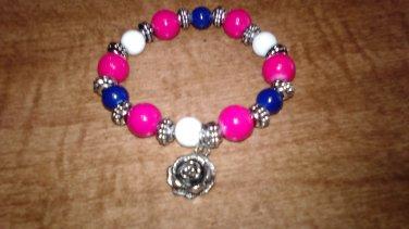 Red White And Blue Charm Bracelet