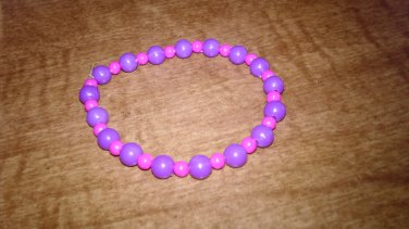 Pretty In Pink And Purple Bracelet