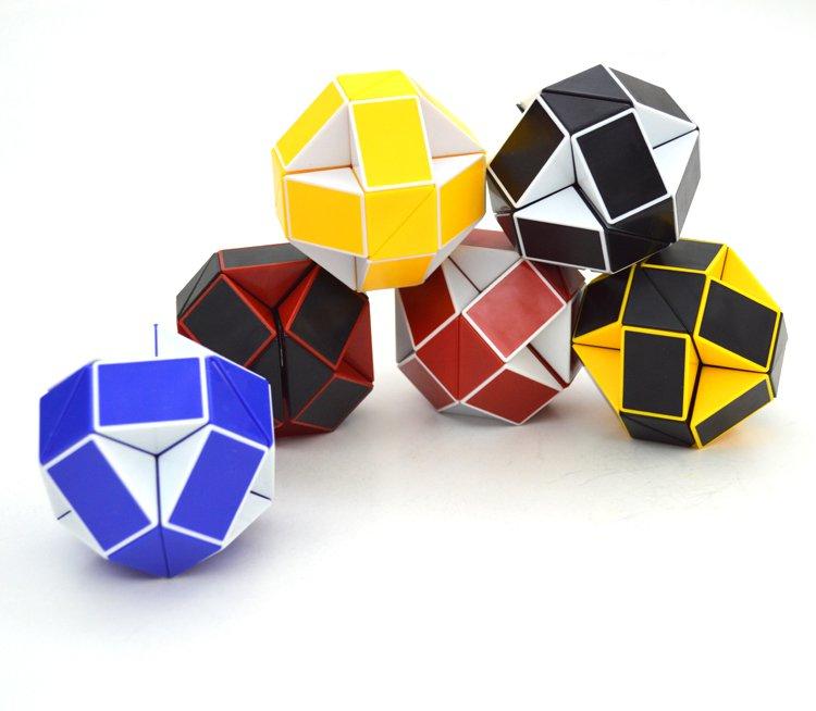 6pcs/Lot SHS Creative Changeable Rubik's Snake Magic Cube Puzzle Toy
