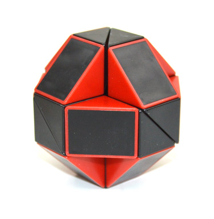 SHS Creative Changeable Rubik's Snake Magic Cube Puzzle Toy Black