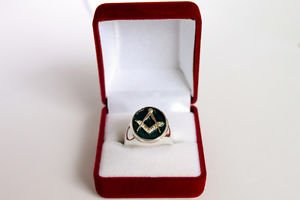FREEMASON-MASONIC Silver RING Handcrafted Men's Jewelry 925