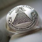 Masonic Dollar Ring SILVER 925 & GOLD 14K Pyramid Eye Illuminati Freemason Mason