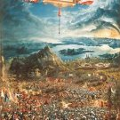 CANVAS Battle Alexander Issus MASONIC FREEMASON Stretched Decor Altdorfer