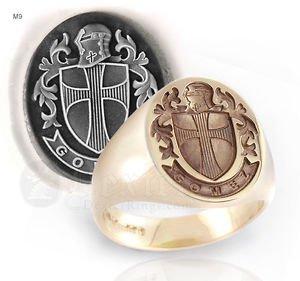 Handmade CUSTOM Crusade Ring YOUR NAME SILVER 925 & GOLD 14K Freemason Mason