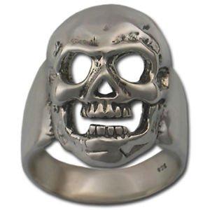MASONIC SKULL RING Solid Sterling SILVER 925 GOLD 14k Freemason Custom