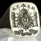 Veritas Fraternitas Acit MASONIC RING FREEMASON Silver All seeing Eye free P&P