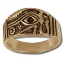EYE HORUS RA RING Providence SILVER 925 GOLD 14 Freemason Mason Egyptian