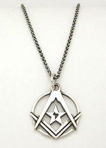 MASONIC NECKLACE Silver MASON Symbol The American Federation of Human Rights