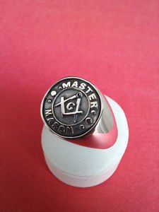 FREEMASON MASONIC RING Silver and Gold MASON RING Compasses Square Symbol Master