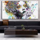 16 x 34 Size Oil Painting Modern wall art girl with flowers