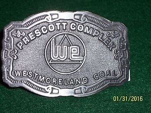FREE S&H! WESTMORELAND COAL COMPANY BELT BUCKLE