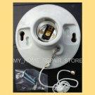 US SELLERFREE S&H! SATCO STANDARD PORCELAIN PULL CHAIN CEILING LIGHT LAMP SOCKET