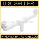 "CENTER WASTE OUTLET 1+1/2 "" KITCHEN SINK DRAIN CROSS OVER  ASSEMBLY - FREE S&H !"