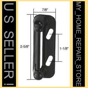 FREE S&H! SPRING LOADED STRIKE 4 STORM & SCREEN DOOR LATCH HANDLE CATCH  - BLACK