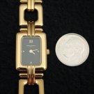 French Michel Herbelin Ladies Chain Bracelet Watch Gold ETA Swiss 5 Jewel