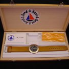 Bord a' Bord Solid Bronze French Watch Quartz Genuine Leather