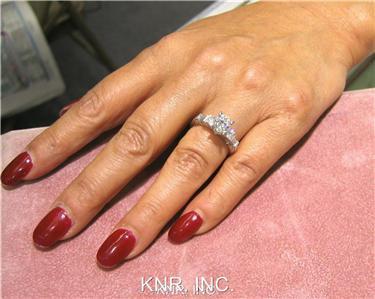 18K WHITE GOLD ROUND CUT DIAMOND ENGAGEMENT RING 1.23CTW H-VS2 EGL USA
