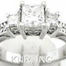 PRINCESS CUT DIAMOND ENGAGEMENT RING ART DECO 1.15CTW