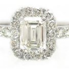 EMERALD CUT DIAMOND ENGAGEMENT RING 2.10CTW