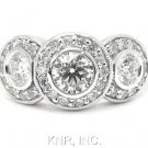 ROUND DIAMOND ENGAGEMENT RING BEZEL THREE STONE 1.65CTW