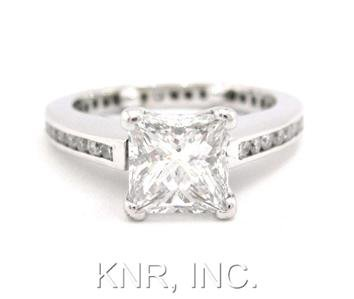 1.70CT PRINCESS CUT DIAMOND ENGAGEMENT RING ETERNITY