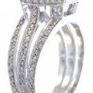 18k white gold asscher cut diamond engagement ring halo 2.00ct H-VS2 EGL USA