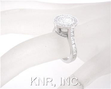 ROUND CUT DIAMOND ENGAGEMENT RING BEZEL SET 2.50CTW