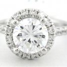 ROUND CUT DIAMOND ENGAGEMENT RING 1.49CT DECO