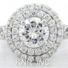 14K WHITE GOLD ROUND CUT DIAMOND ENGAGEMENT RING 1.70CTW