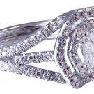 18K WHITE GOLD PRINCESS CUT DIAMOND ENGAGEMENT RING ART DECO 1.95CT H-VS2 EGL US