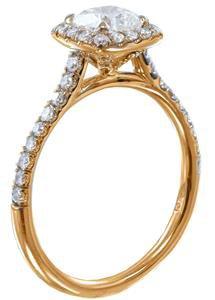 14K ROSE GOLD CUSHION CUT DIAMOND ENGAGEMENT RING DECO 1.50CTW I-SI1 EGL USA