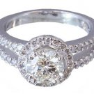 ROUND DIAMOND ENGAGEMENT RING DECO SPLIT SHANK 1.75CTW
