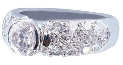 14K WHITE GOLD ROUND CUT DIAMOND ENGAGEMENT RING SEMI BEZEL 1.85CT
