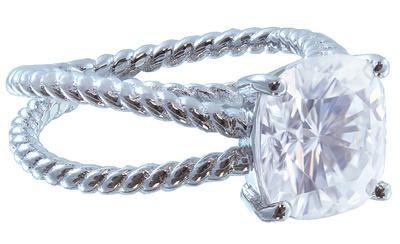 18K WHITE GOLD CUSHION CUT DIAMOND ENGAGEMENT RING SOLITAIRE 2.00CT G-VS2 EGL US