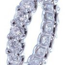 18K WHITE GOLD ROUND CUT DIAMONDS ETERNITY BAND ANNIVERSARY PRONG SET 4.00CTW