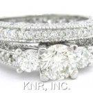ROUND CUT DIAMOND ENGAGEMENT RING & BAND 2.25CTW
