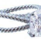 GIA H-VS2 18K White Gold Cushion Cut Diamond Engagement Ring Solitaire 2.00ctw
