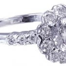 14K WHITE GOLD ROUND CUT DIAMOND ENGAGEMENT RING ART DECO HALO 1.80CTW