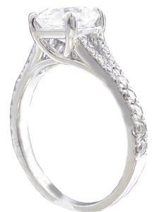 GIA H-VS2 18K White Gold Asscher Cut Diamond Engagement Ring Prong Set 2.00ctw