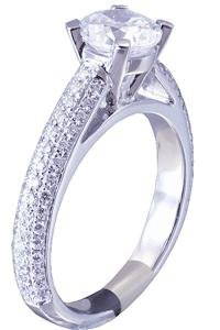 GIA H-SI1 18k White Gold Round Cut Diamond Engagement Ring Prong Deco 1.58ct