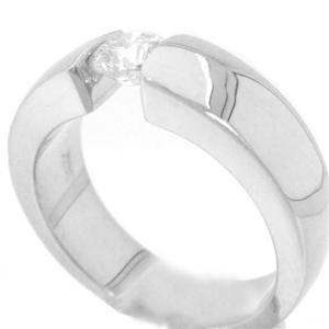 14K WHITE GOLD ROUND DIAMOND ENGAGEMENT RING TENSION SOLITAIRE 0.75CT
