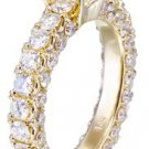 14K Yellow Gold Asscher Cut Diamond Engagement Ring Prong Set Three Side 2.90ctw