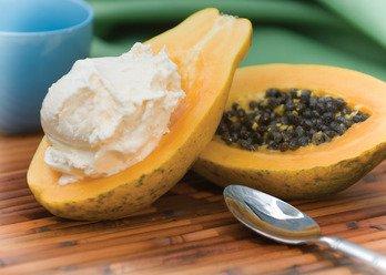 Natural Papaya Cream Scented Soy & Shea Butter Body Lotion 16 Oz