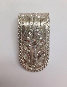 "SILVER KING USA Chatsworth CA Handmade Sterling 925 Small 1 1/2"" x 3/4 MoneyClip"