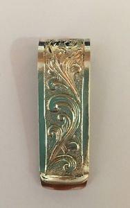 "TRAIL BOSS Handmade/Engraved Finish Sterling Silver 925 2"" Money Clip Over $100"