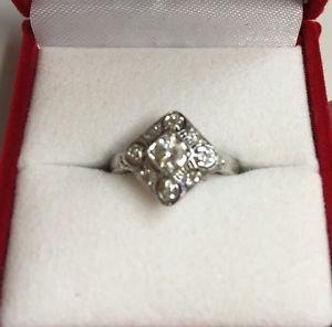 Prestige EGL 0.25ct SI1 H-I Natural Diamonds Transition Brilliant 14K White Gold