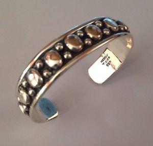 STERLING Silver 925 MEXICO Taxco TJ-65 Black Oxidized Cuff Bracelet Fine Art Jew