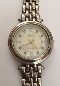 ECCLISSI STERLING Silver 33250 Mop Dial 1 Extra Link Great Working Condition 36m